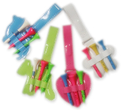 Colorful Golf Tee Holders - 4 Pack